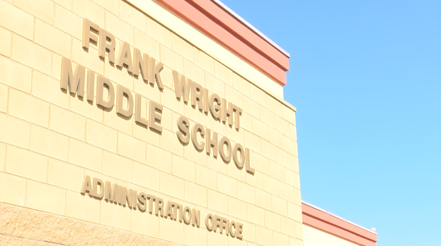 Entrance to Frank Wright Middle School.