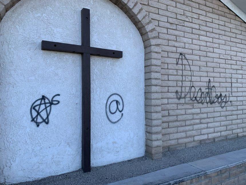 Yuma Christian Academy vandalized with satanic graffiti