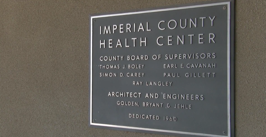 Imperial County Public Health Department building.