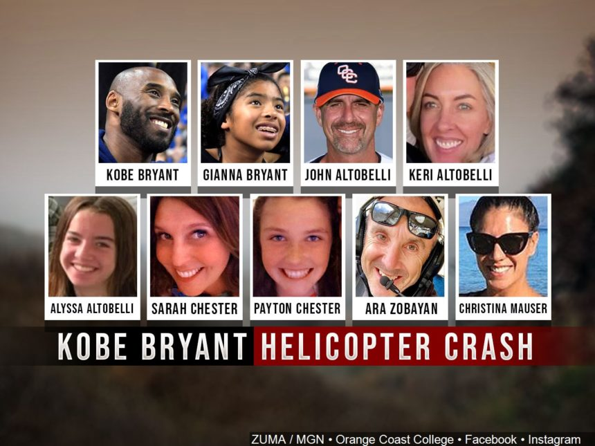 Helicopter crash victims