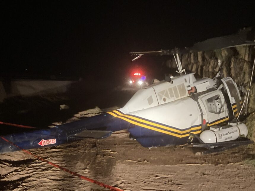 Helicopter crash in Holtville