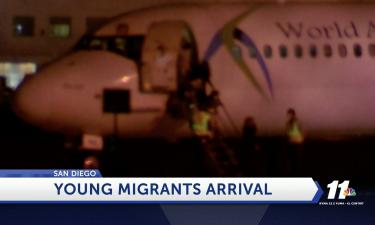 Migrants arrive