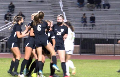 Gila Ridge celebrates a game tying goal