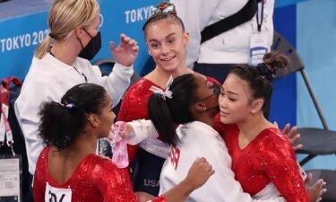 USA gymnasts Lee