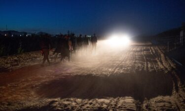 Central American asylum seekers are detained by the the US Border Patrol after they crossed into the United States from Mexico on April 29 near Yuma