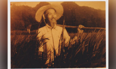 An undated photo of Sang Moon is seen. He was separated from his wife and most of his children in 1945 when they left Manchuria for South Korea. He died in 1974
