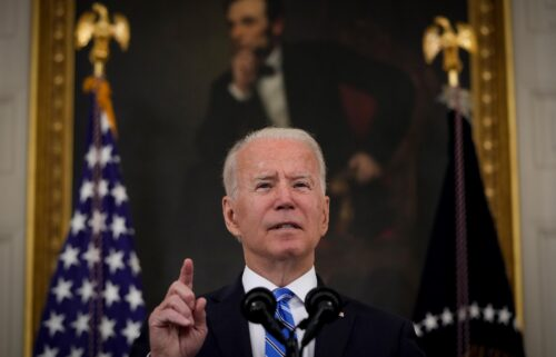 President Joe Biden speaks about the nation's economic recovery in the State Dining Room of the White House on July 19 in Washington