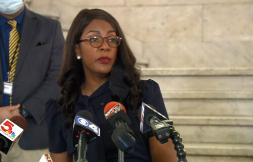 St. Louis Mayor Tishaura Jones held a press conference on July 26 to address the city's mask mandate amid a rise in Covid cases throughout the state of Missouri.