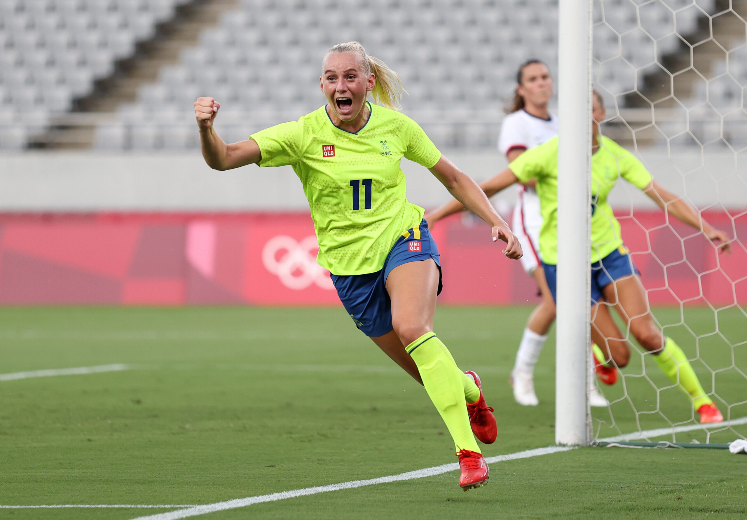<i>Dan Mullan/Getty Images AsiaPac/Getty Images</i><br/>Stina Blackstenius got her Olympics off to a dream start with a brace.