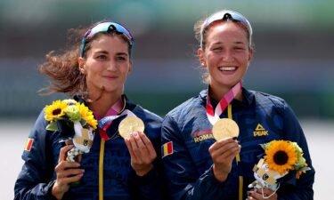 Romania wins first gold of Tokyo regatta in women's double