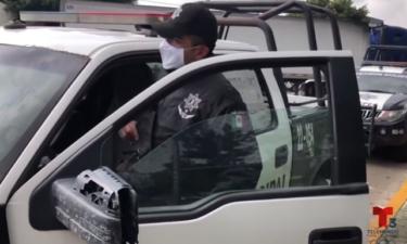 intimidan a policías con narcomantas