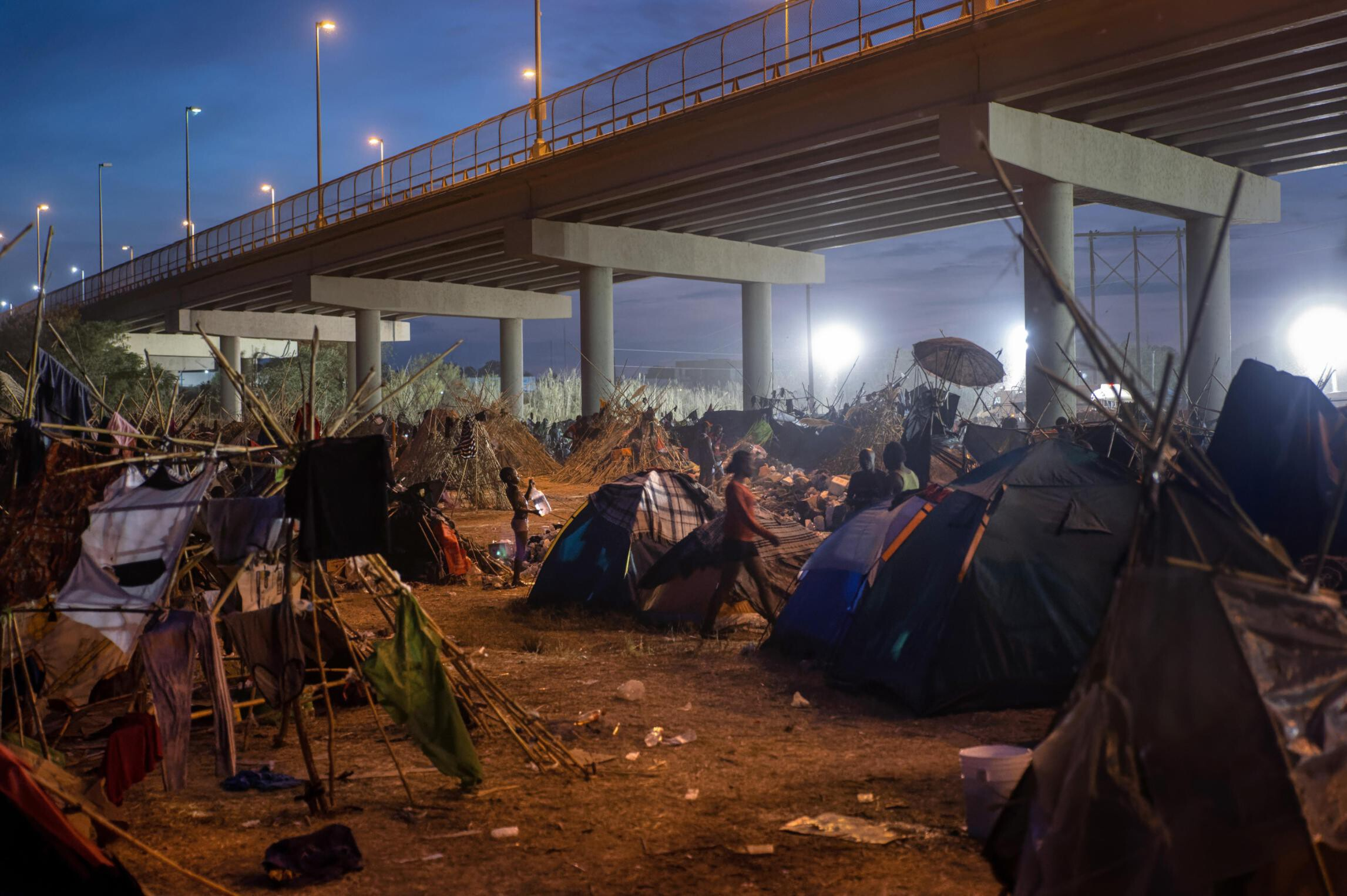 <i>John Moore/Getty Images</i><br/>The number of migrants apprehended in Del Rio