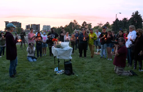 A small crowd gathered in Salt Lake City Wednesday night to mourn Gabbi Petito