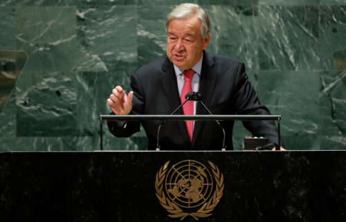 UN Secretary-General Antonio Guterres addresses the 76th Session of the UN General Assembly on Sept. 21.