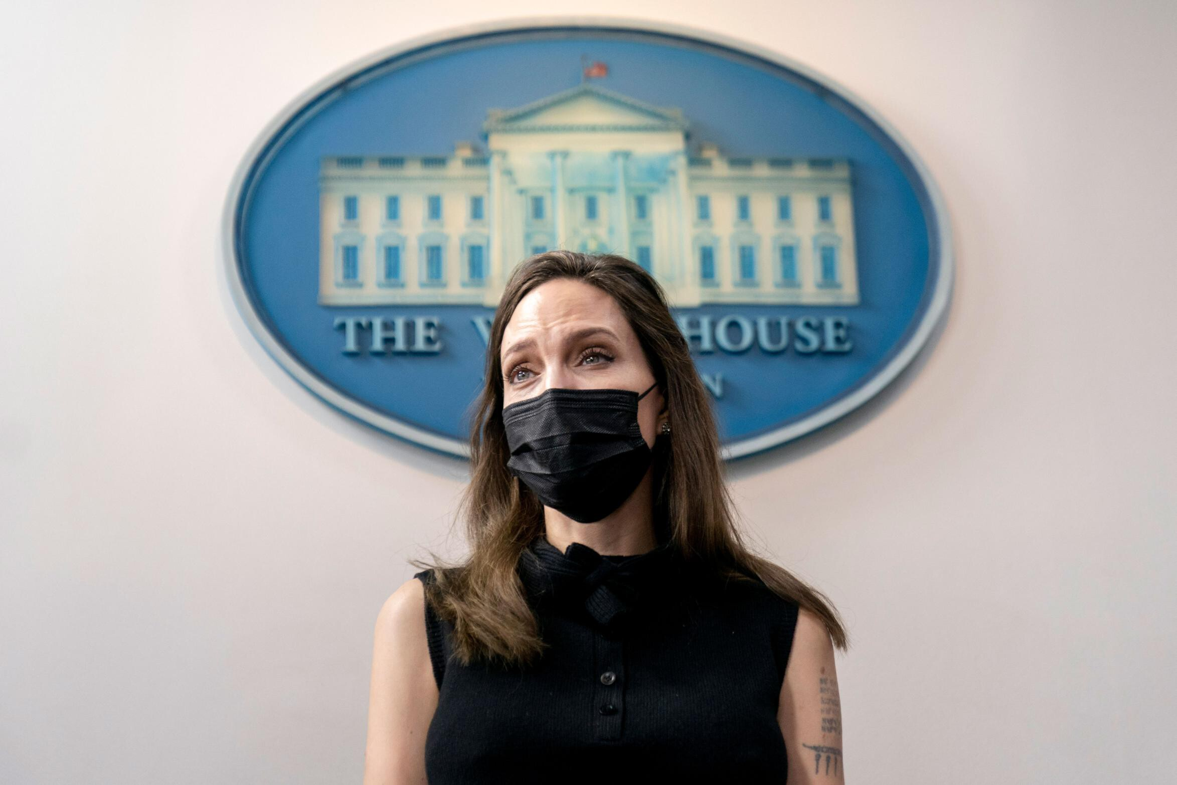 <i>Andrew Harnik/AP</i><br/>Angelina Jolie Wednesday meets with White House officials on reauthorizing Violence Against Women Act.