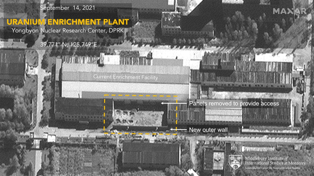 <i>Maxar/Middlebury Institute of International Studies</i><br/>A satellite image taken on September 14