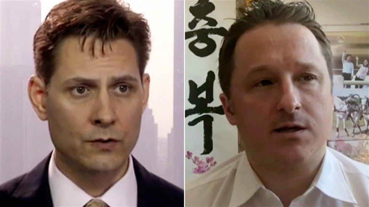<i>AP</i><br/>Michael Kovrig (left) and Michael Spavor