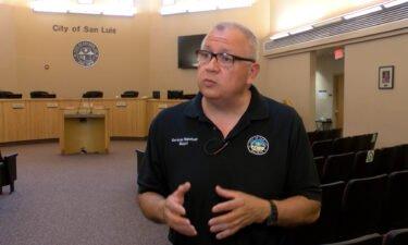 Alcalde de San Luis Arizona Gerardo Sánchez