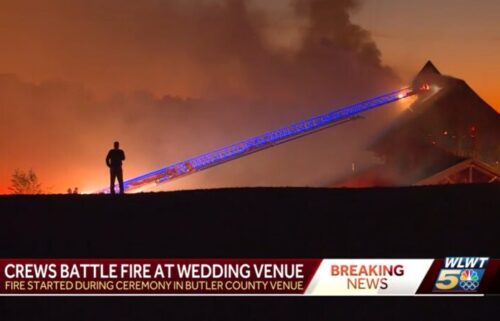 Fire engulfs a building at Hanover Reserve in Butler County