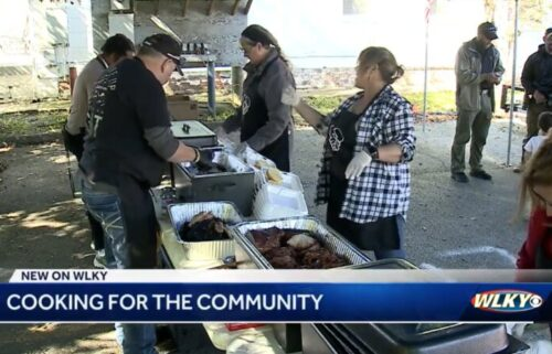 """Volunteers gather on October 16 for  """"Cooking for the Community"""