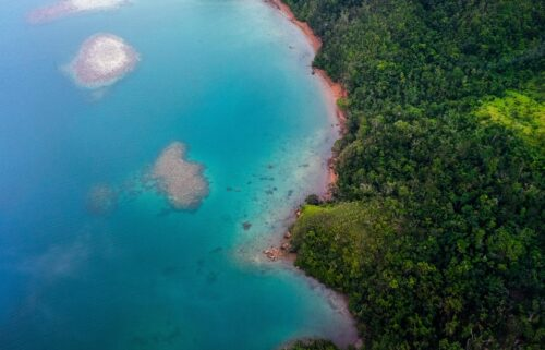 Climate change studies are twice as likely to focus on wealthier countries in Europe and North America than low-income countries like those in Africa and the Pacific Islands. The shoreline of Kadavu Island in Fiji is shown here
