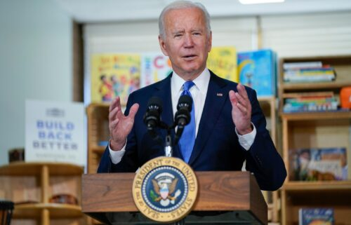 The White House on Monday announced a new plan to combat pollution from per- and polyfluoroalkyl substances (PFAS). President Joe Biden is shown here at the Capitol Child Development Center