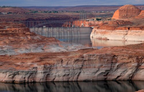 The Glen Canyon Dam is seen here at Lake Powell in Arizona in June.
