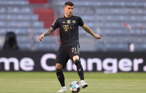 France and FC Bayern Munich defender Lucas Hernández has until October 28 to voluntarily enter prison after breaking a restraining order in 2017. Hernández is shown here playing for Bayern Munich at Allianz Arena on May 22